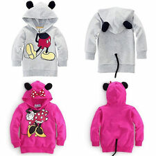 Kids Girls Boys Toddler Minnie Mouse Fleece Hoodies Sweatshirt Jumper Tops 1-6Y