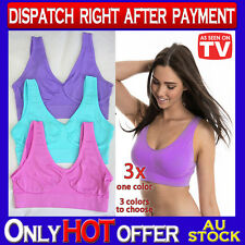 3 x Seamless Bras Summer Color Choices S M L XL XXL XXXL ahh so comfy Leisure