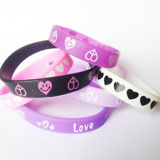 Love Smile  Silicone Wristbands Rubber Bracelet