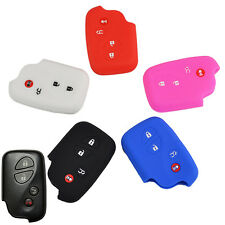 4BTN FIT FOR LEXUS SILICONE SMART REMOTE KEY HOLDER COVER FOB CASE JACKET SHELL