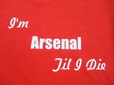 Football Arsenal T-Shirts & Sweat Shirts Inc 4XL 5XL Personalised Birthday Gift