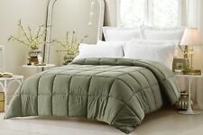 Green Oversized Goose Down Alternative Year Round Comforter  QUEEN & KING SIZES