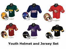 Kids Boys NFL Football Helmet & Jersey Halloween Costume Uniform