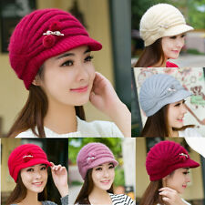 Winter Warm Women Ladies Beret Braided Baggy Beanie Crochet Knit Cap Hat New 195