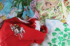 Bulk Lot 4 Vintage Pre Loved Hair Scarves 50s Rockabilly PinUp Scarf Holiday