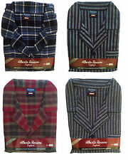 Mens Pyjamas Flannel Winceyette Brushed Cotton Winter Pyjamas SIzes M to XXL