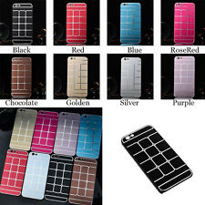 NEW Aluminum Metal Sheet Shell Hard Case Back Cover For Apple iPhone 6 Air 4.7""