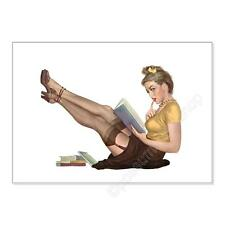Wall Art. Classic Sexy Pinup Girl. Glamorous Librarian. unframed print poster
