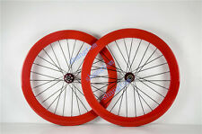 carbon fiber bicycle wheels 50/ 60mm  road bike wheelset 700c orange tubular