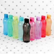 Tupperware Eco Drink Bottle 1Lt Flip Top Black Pink Blue Red H2O on the Go NEW