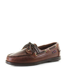 Womens Ladies Sebago Victory Brown Premium Full Leather Boat Deck Shoes  Uk Size