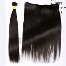 100g Remy Human Hair Weave Black Straight Brazilian Hair Extensions 8''-30''