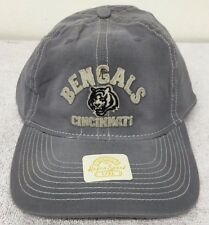 Cincinnati Bengals NFL Distress Fitted Gray Retro Rbk Hat Cap NWT Flex S/M,L/XL