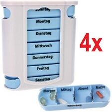 4x 7 Tage Pillendose - Tablettenbox - Pillenbox - Tablettendose - Tabletten