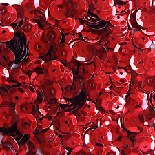 Sequins Red 5mm Round Cup ~1,000 or ~12,500 pieces Loose High Quality