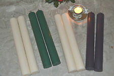 """Natural Hand Poured Soy Wax Church Candles 11 1/2"""" tall by 1 1/2"""" wide."""