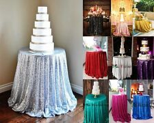 """Sequin Tablecloth 48"""" - 132'' Round for Party/Wedding Table Bridal Dinning Table"""