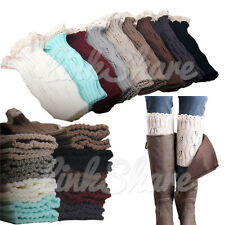 TX SELLER Fashion Womens Crochet Knit Lace Leg Warmers Cuffs Toppers Boot Socks