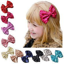 Girl Children Kids Infant Bow Hair Clips Hairpin Baby Sequin Bowknot Barrette