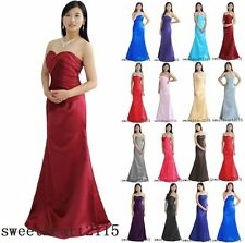 Bridesmaid Dress Evening Formal Prom Gown Stock Size 6 8 10 12 14 16 18