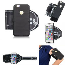 Running Sports Armband Case Cover with Belt Clip +Stand For iPhone 6 6S Plus