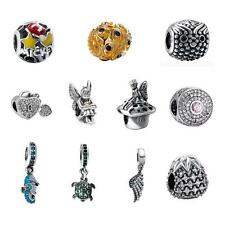 Solid 925 Sterling Silver Bead Fit 3mm European Charm Bracelet Love Gift 07AB