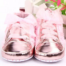 Lovely Baby Kids Boots Shoes Toddler Infants Girls Rose Lace Up Soft Sole Shoes