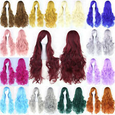 80cm Women Fashion Lady Anime Long Curly Wavy Hair Party Cosplay Full Wig 45