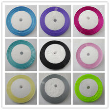 "Free Shipping DIY 50  yds 1/4""(6mm) Wedding Party Craft Satin Ribbons New"