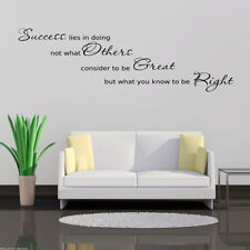 SUCCESS OFFICE Wall Art Sticker Hall Lounge Quote Decal Mural Stencil Transfer