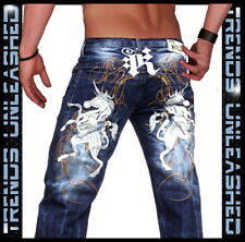 - SIZE  30  New Mens Kosmo Lupo Italian Designer Blue Jeans
