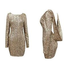 Sexy Women Mini Dress Sequin Backless Bodycon Cocktail Evening Party Clubwear