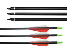 "30"" Fletched Archery Mixed Carbon Arrows with 3"" Vanes for Recurve Compound Bow"