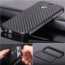 Luxury Aluminum Metal Carbon Fiber Material Panel Cover Case For HTC One M8