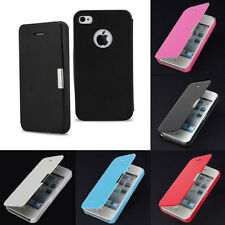 Slim Magnetic Folio Flip Leather Hard Back Case Cover Pouch for iPhone4 4s Hot