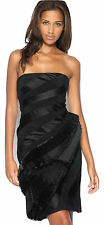 KAREN MILLEN Strapless Pleated Dress Black Silk UK Size 8 or 10 Cocktail Evening