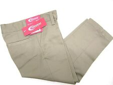 PREMIUM School Uniform Flat Front Straight Leg Khaki Pants Girls' Size 4 5 6 6x