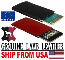 # POCKET CASE COVER HANDMADE REAL GENUINE LAMB LEATHER POUCH - RANGE PHONE MODEL