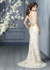 New Sexy White/Ivory Lace Wedding Dress Bridal Gown Size4-6-8-10-12-14-16+18+20