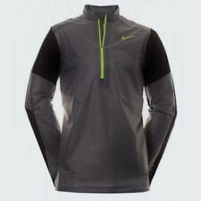 NEW Mens 2XL NIKE GOLF HyperAdapt Half Zip Dark Grey Yellow Pullover Wind Jacket