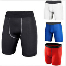 Men's Sports Athletic Tights Compression Wear Under Base Layer Shorts Pants #J51