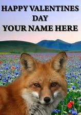 Fox Valentines Personalised Greeting Card pid242 Husband Wife Love