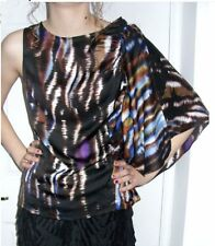 Pied A Terre Frill Print Sleeve Shell Top Multi-Coloured NWOT RRP £65.00