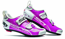 SIDI T-4 AIR CARBON COMP WOMENS TRIATHLON BIKE SHOES FUCHSIA/WHITE