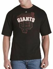 San Francisco Giants MLB Majestic Mens Pop Shirt Black Big & Tall Sizes