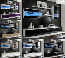 Modern Wall Unit TV Display Living Room High Gloss Furniture LOGO II Free P&P
