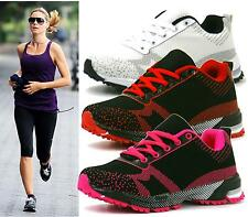 WOMENS TRAINERS RUNNING GYM FITNESS LIGHTWEIGHT MESH LADIES PUMPS SHOES