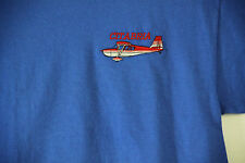 Citabria Aircraft Royal Embroidered Crest T-shirt High Wing, Aerobatic