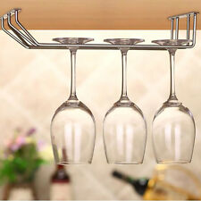 Wine Glass Rack Hanger Holder Shelf Stemware Hanging Under Cabinet Bar Kitchen