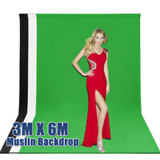 NEW Photography Studio Video Muslin Backdrop Photo Background Back Drop 3*6M AU